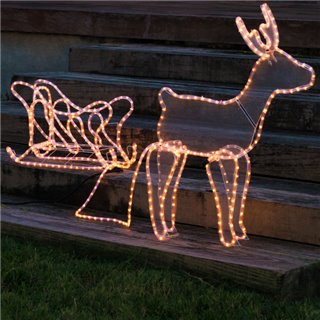 Renne de Noël avec Traîneau (504 LED)