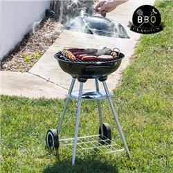 Barbecue à Charbon avec Couvercle et Roulettes BBQ Classics