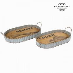 Lot de 2 plateaux - Collection Art & Metal by Bravissima Kitchen
