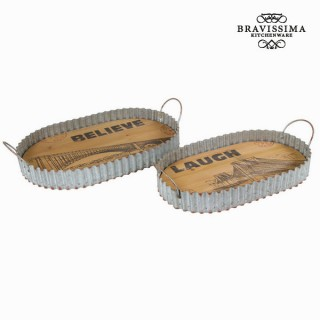 Lot de 2 plateaux - Collection Art & Metal by Bravissima Kitchen