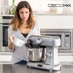Robot de Cuisine Multifonction Cecomix 1000W Gris