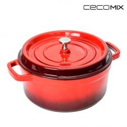 Cocotte Escarlata Cecomix -Mesure-20 cm