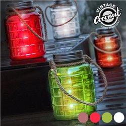 Bocal en Verre Décoratif avec LED Grange Vintage Coconut-Couleur-Marron