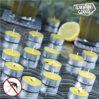 Bougies Parfumées à la Citronnelle Adventure Goods (lot de 15)