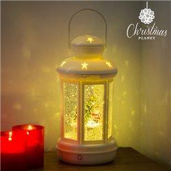 Lanterne de Noël LED avec Liquide et Paillettes Christmas Planet