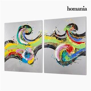 Set de 2 Cadres Huile (120 x 3 x 150 cm) by Homania