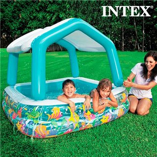 Piscine Gonflable avec Parasol Maison Intex
