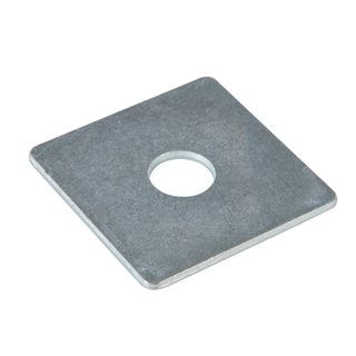 Lot de 10 plaques rondelles plates carrées - 50 mm x M12