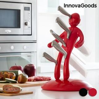 Service de Couteaux avec Porte-Couteaux Voodoo Premium InnovaGoods (6 pièces)-Couleur-Noir