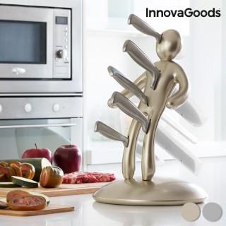 Service de Couteaux avec Porte-Couteaux Voodoo Premium InnovaGoods (6 pièces)-Couleur-Argenté