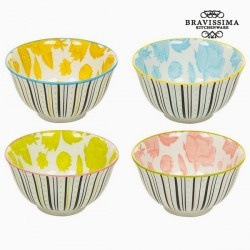 Ensemble de bols Porcelaine Volets (4 pcs) - Collection Queen Kitchen by Bravissima Kitchen