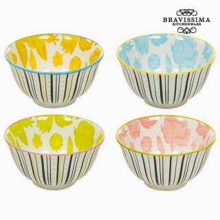 Ensemble de bols Porcelaine Volets (4 pcs) - Collection Queen Kitchen by Bravissima Kitchen