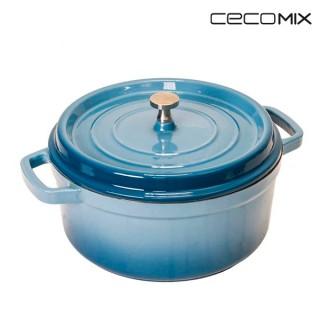 Cocotte Cobalt Cecomix -Mesure-24 cm