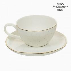 Tasse avec sous-tasse 250 ml - Collection Queen Kitchen by Bravissima Kitchen