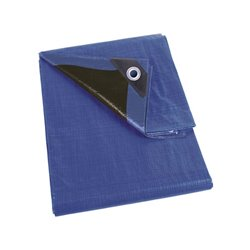 Bâche - Bleu/Noir - Ultrarésistant - 6 X 10 M