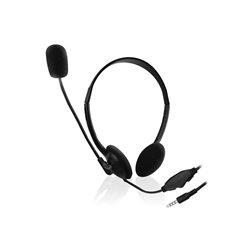 Ewent - Casque De Conversation Avec Microphone Pour Smartphone/Tablette/Pc