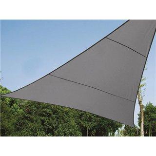 Voile Solaire Perméable - Triangle - 3.6 X 3.6 X 3.6 M - Couleur: Anthracite