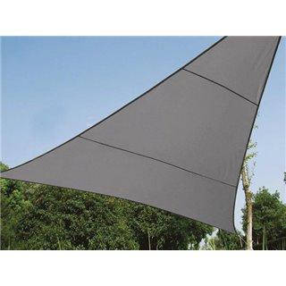Voile Solaire Perméable - Triangle - 5 X 5 X 5 M - Couleur: Anthracite