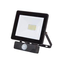 Projecteur Led Pour L'Extérieur - 20 W, Blanc Neutre - Noir - Pir