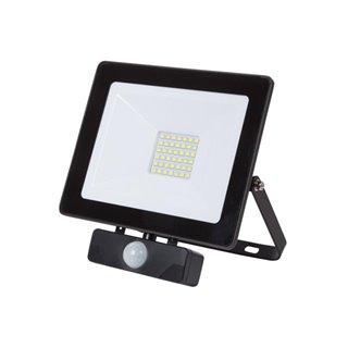 Projecteur Led Pour L'Extérieur - 30 W, Blanc Neutre - Noir - Pir