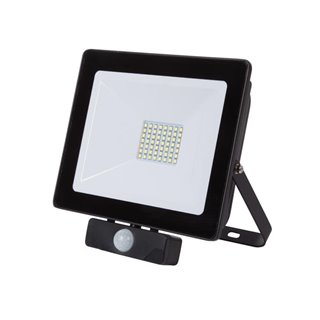 Projecteur Led Pour L'Extérieur - 50 W, Blanc Neutre - Noir - Pir
