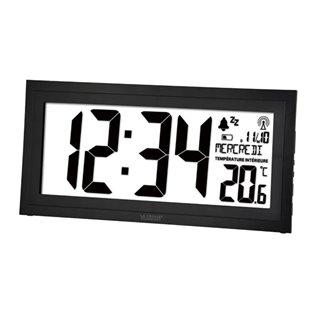 Horloge Dcf Murale Avec Calendrier, Humidité, Température Et Alarme