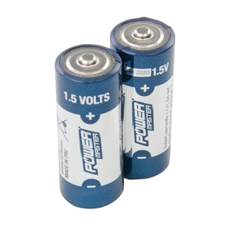 Lot de 2 piles alcalines 1,5 V Super LR1 - Lot de 2