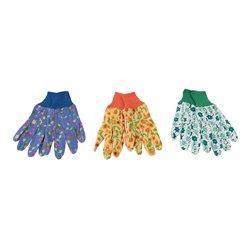 Gants de jardinage à imprimé floral, lot de 3 paires - Medium