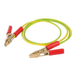 Câble avec pinces pour mise à la terre temporaire - 2,5 m / 50 mm