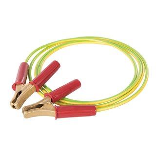 Câble avec pinces pour mise à la terre temporaire - 2,5 m / 30 mm