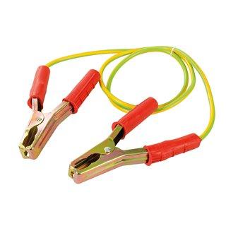Câble avec pinces pour mise à la terre temporaire - 1,2 m / 25 mm