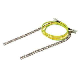 Câble avec chaîne pour mise à la terre temporaire - 1,2 m / 250 mm