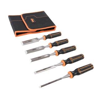 Lot de 5 ciseaux à bois - TWCS5 - 6, 12, 19, 25 et 32 mm