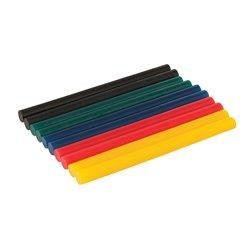 Lot de 10 bâtonnets de colle colorée - 7,2 x 100 mm