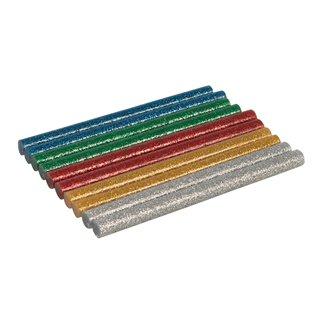 Lot de 10 bâtonnets de colle pailletée - 7,2 x 100 mm