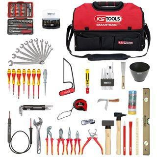 Composition d'outils électricien en sac SMARTBAG - 138 pièces