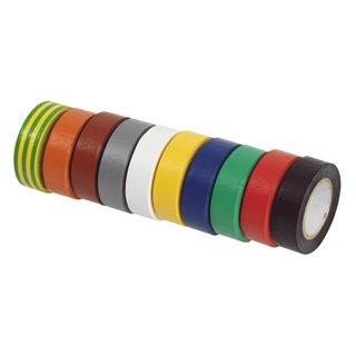 Lot de 10 rubans d'isolation en PVC multicolor
