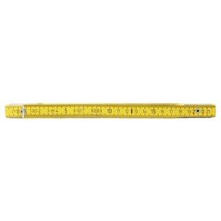 Mètre pliant bois KS, L, 2 m - Jaune