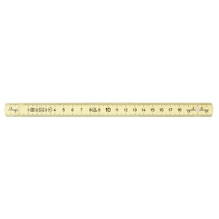 Mètre pliant composite KS, L, 2m - Jaune