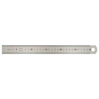 Reglet semi rigide L,300 x l,30 x ép,0,8mm - graduation profonde recto/verso -
