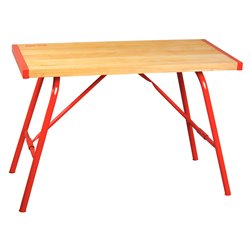Table monteur 1200x600x45 mm - plateau en hêtre massif, épaisseur 45 mm -