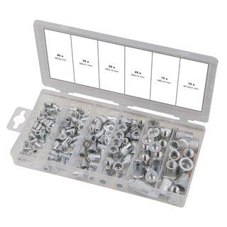 Assortiment d'inserts taraudés aluminium, 150 pcs