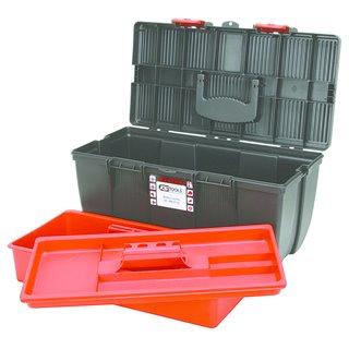 Boîte à outils de technicien en plastique, L500 X P268 X H230 avec plateau de rangement