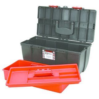 Boîte à outils de technicien, L380 X P195 X H150 avec plateau de rangement