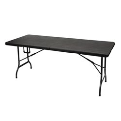 Table Pliante - Imitation Bois - 180 X 75 X 74 Cm