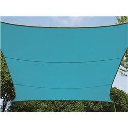 Voile Solaire - Rectangulaire - 4 X 3 M - Couleur : Bleu Ciel