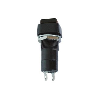 R18-23 Bouton-Poussoir On-(Off) Noir  3A/125V