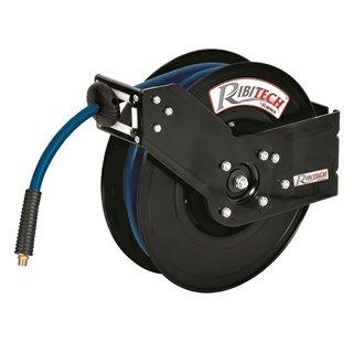 Dévidoir automatique à air 16m 9,3x15,3mm tuyau gomme/pvc support métal..