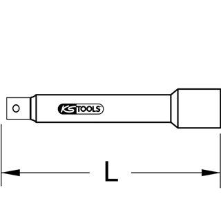 """Rallonge 3/4"""" - L,200 mm"""