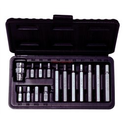 Coffret d'embouts KS, 6pans male 15 pcs - 4-5-6-7-8-10-12 mm